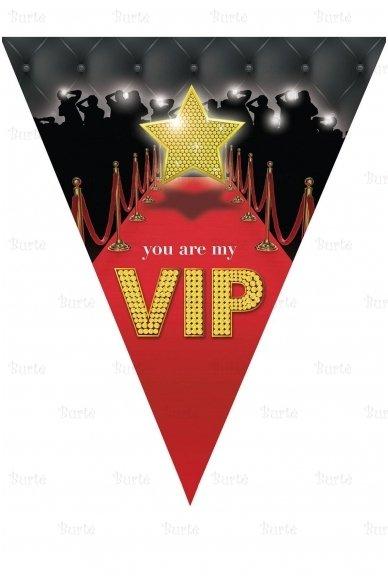 "Vėliavų girlianda ""VIP"""