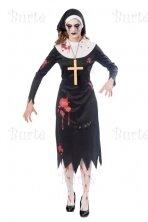 Vienuolės zombės kostiumas
