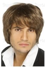 Rudų plaukų perukas