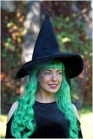 Žalių plaukų perukas 2