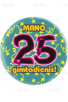 Ženkliukas dvidesimt penktojo gimtadienio proga