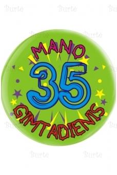 Ženkliukas trisdešimt penktojo gimtadienio proga