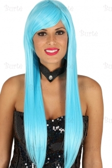 Straight light blue wig